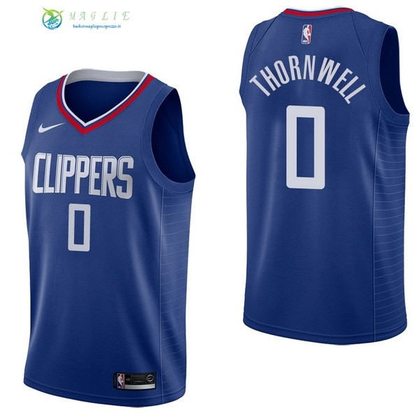 Maglia NBA Los Angeles Clippers NO.0 Sindarius Thornwell Blu Icon 2017-2018