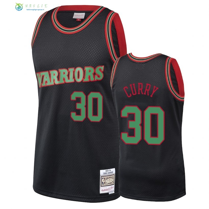 Maglia NBA Golden State Warriors 2018 Natale NO.30 Stephen Curry Nero