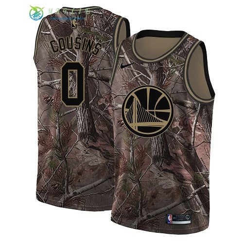 Maglia NBA Golden State Warriors NO.0 DeMarcus Cousins Camo Swingman Collezione Realtree 2018