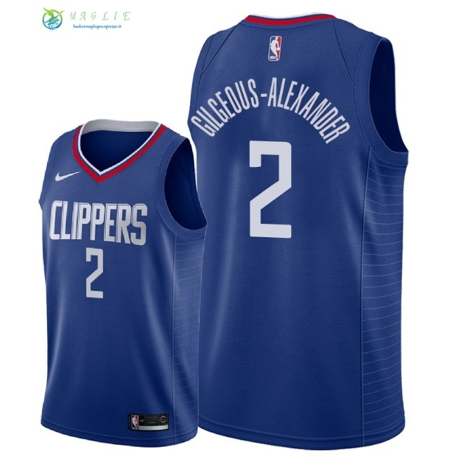 Maglia NBA Nike Los Angeles Clippers NO.2 Shai Gilgeous Alexander Blu Icon 2018