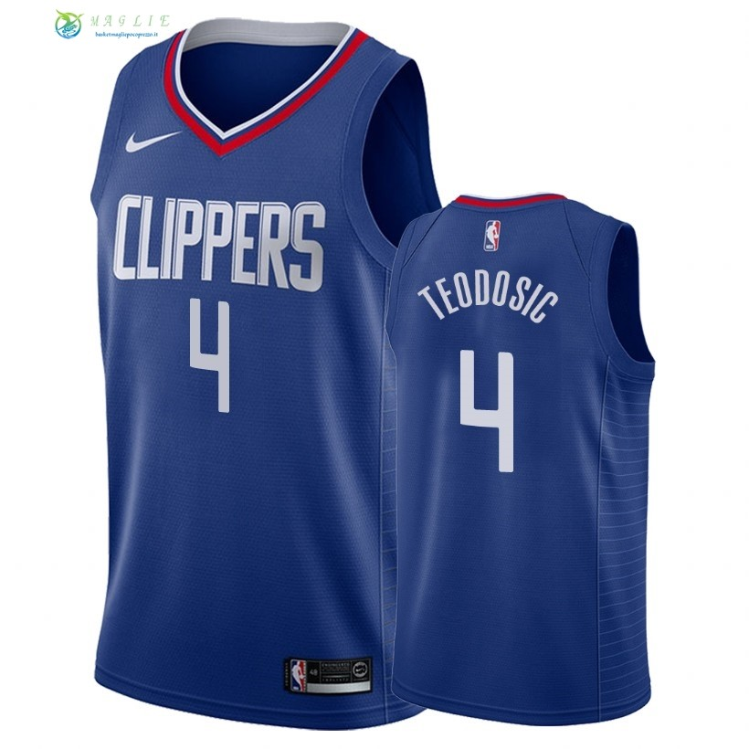 Maglia NBA Nike Los Angeles Clippers NO.4 Milos Teodisic Blu Icon 2018
