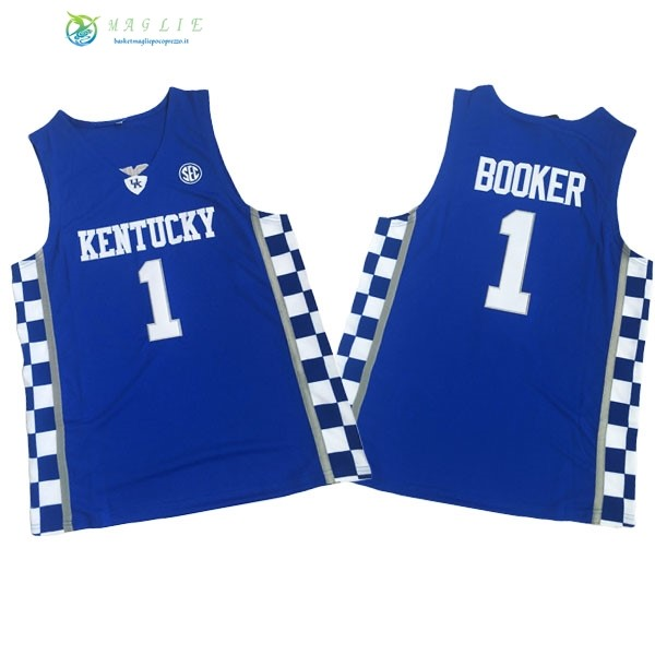Maglia NCAA Kentucky NO.1 Devin Booker Blu