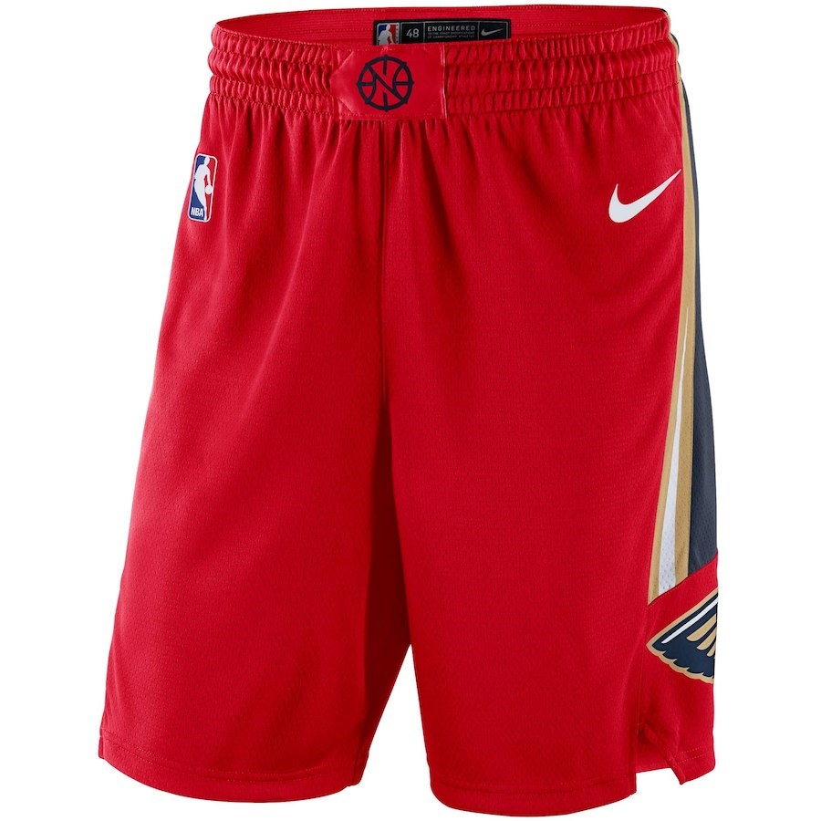 Pantaloni Basket New Orleans Pelicans Nike Rosso Statement 2018