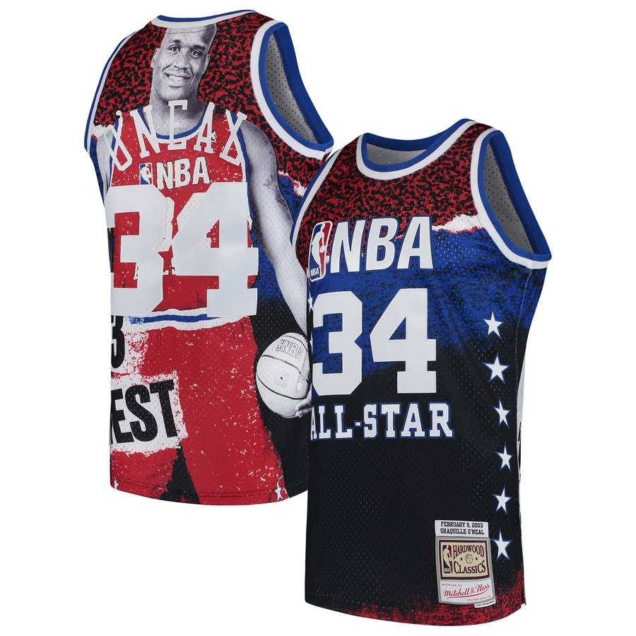 Maglia NBA All Star 2003 NO.34 ShaquilleO'Neal Rosso