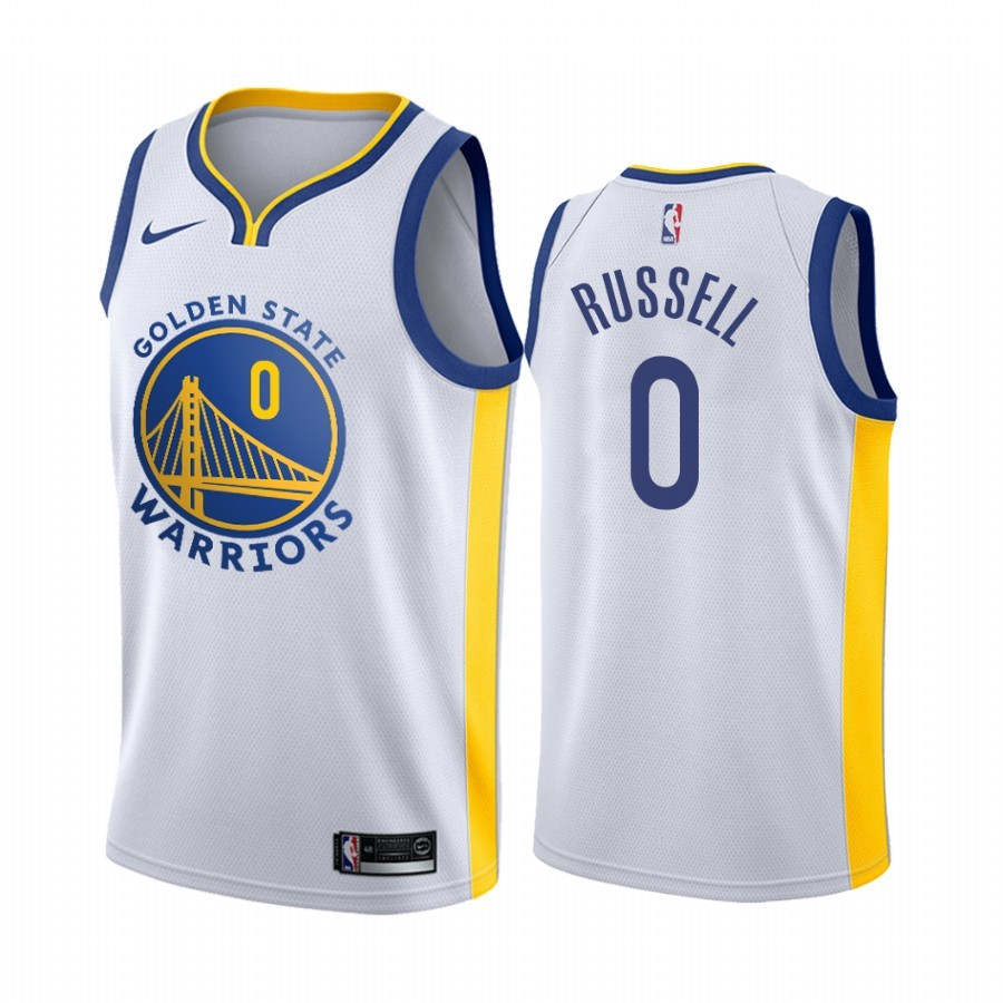 Maglia NBA Nike Golden State Warriors NO.0 D'Angelo Russell Bianco Association