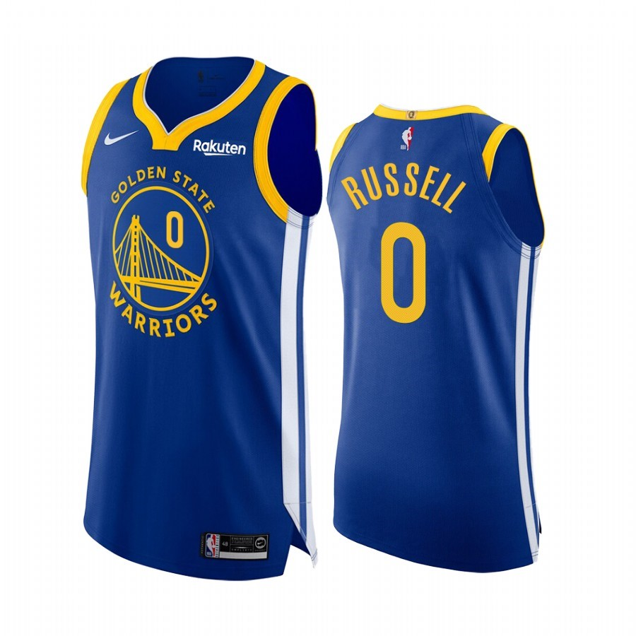 Maglia NBA Nike Golden State Warriors NO.0 D'Angelo Russell Blu Icon Edition