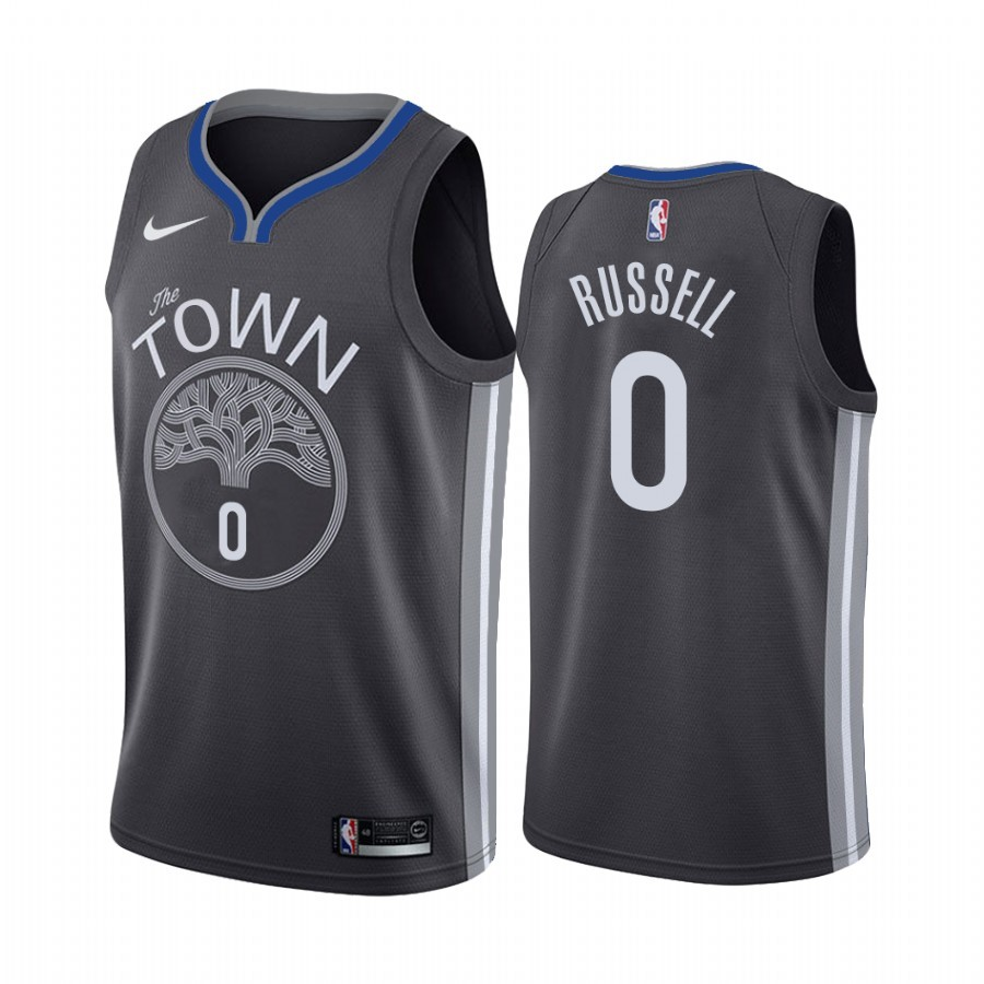 Maglia NBA Nike Golden State Warriors NO.0 D'Angelo Russell Nero Statement 2019-20