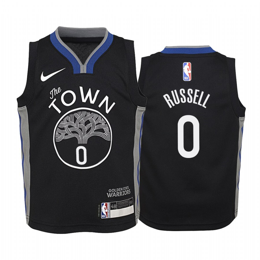 Maglia NBA Bambino Golden State Warriors NO.0 D'Angelo Russell Nike Nero Città 2019-20
