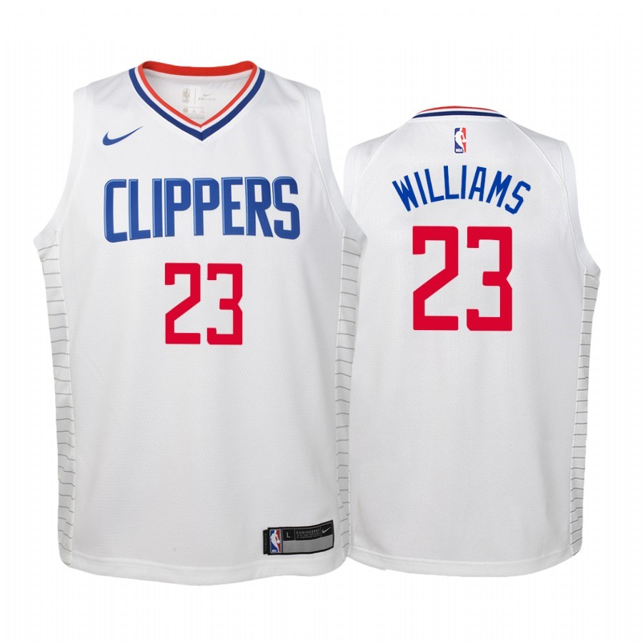 Maglia NBA Bambino Los Angeles Clippers NO.23 Lou Williams Bianco Association 2019-20