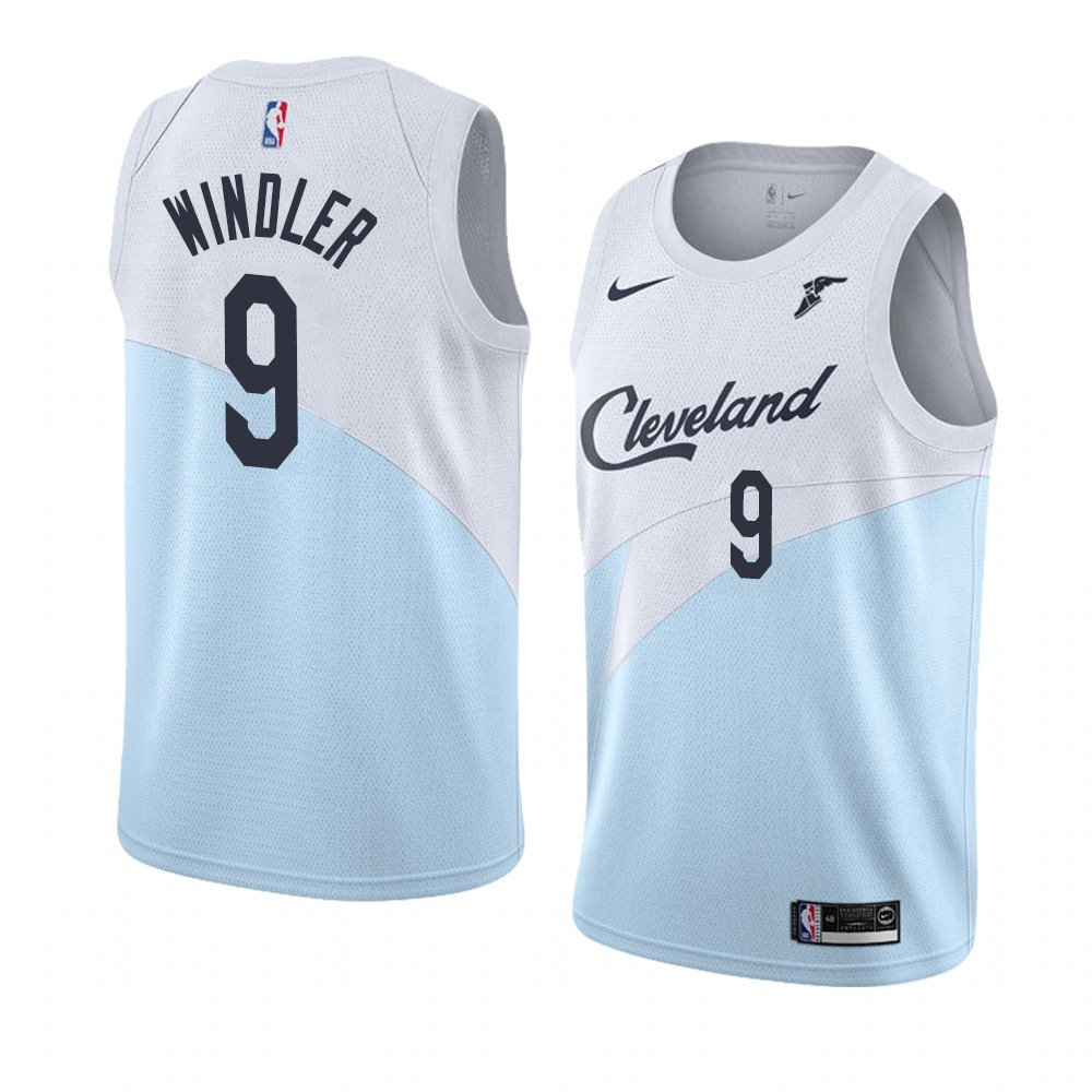 Maglia NBA Earned Edition Cleveland Cavaliers NO.9 Dylan Windler Blu 2018-19