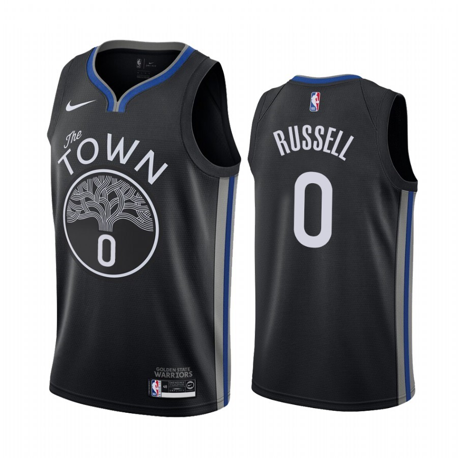 Maglia NBA Nike Golden State Warriors NO.0 D'Angelo Russell Nike Nero Città 2019-20