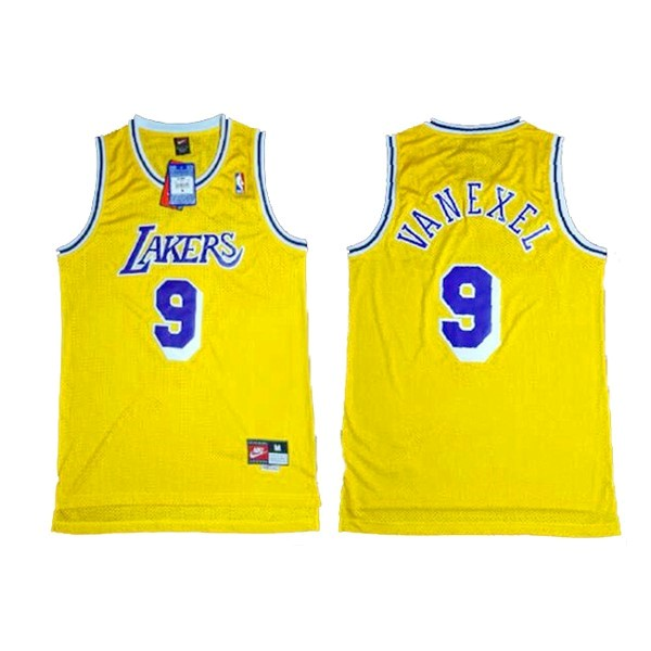 Maglia NBA Los Angeles Lakers NO.9 Nick Van Exel Giallo