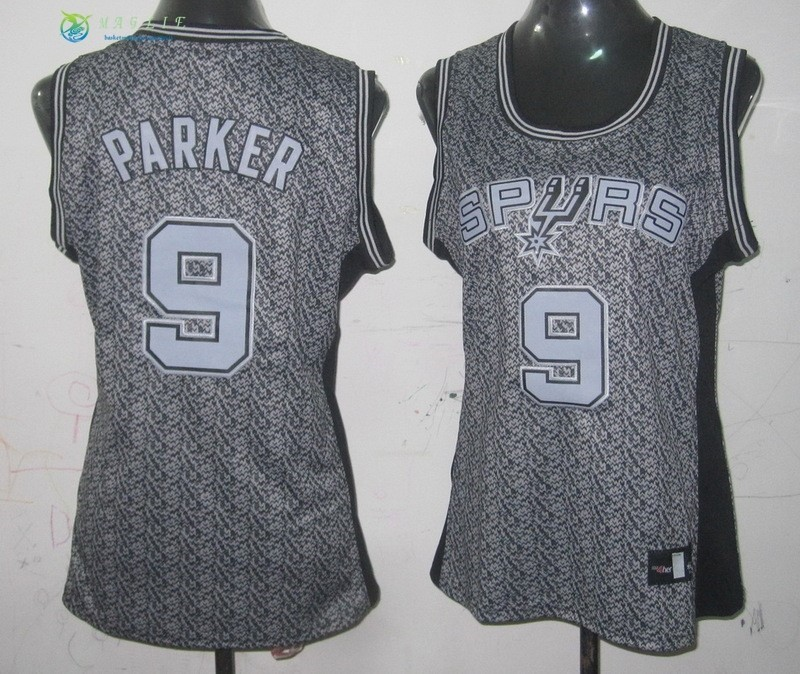 Maglia NBA Donna 2013 Fashion Statico NO.9 Tony Parker