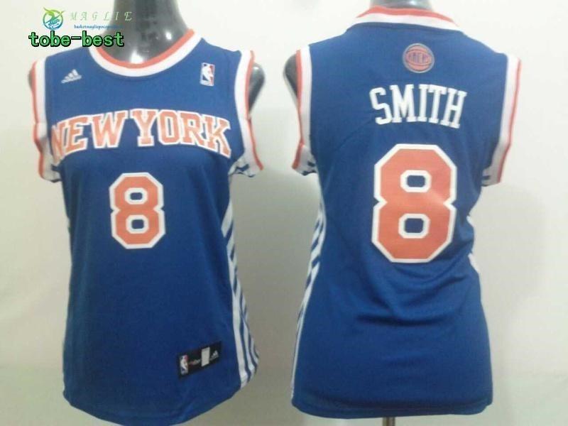 Maglia NBA Donna New York Knicks NO.8 J.R.Smith Blu