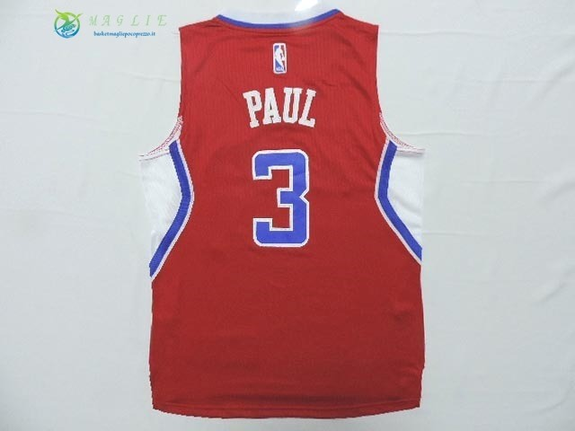 Maglia NBA Bambino Los Angeles Clippers NO.3 Chris Paul Rosso