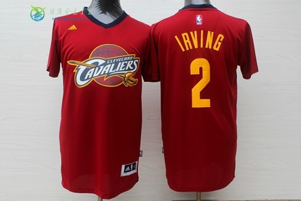 Maglia NBA Cleveland Cavaliers Manica Corta NO.2 Kyrie Irving Rosso