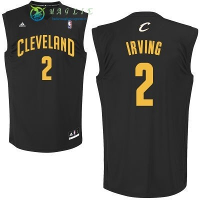 Maglia NBA Cleveland Cavaliers NO.2 Kyrie Irving Nero