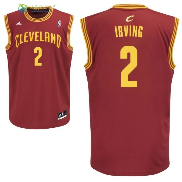 Maglia NBA Cleveland Cavaliers NO.2 Kyrie Irving Rosso