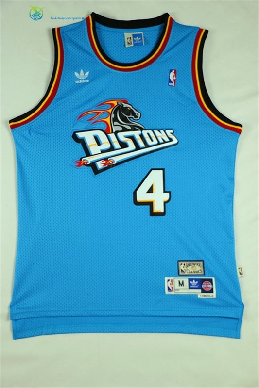 Maglia NBA Detroit Pistons NO.4 Joe Dumars Retro Verde