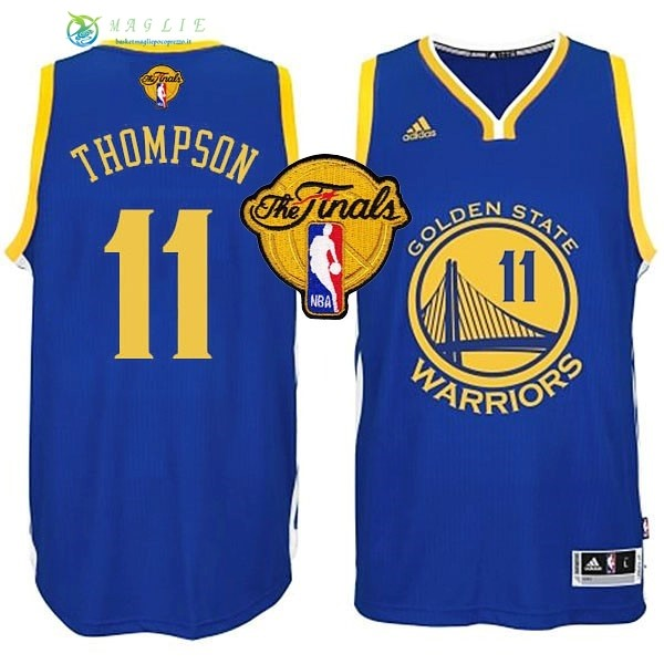 Maglia NBA Golden State Warriors Finale NO.11 Thompson Blu
