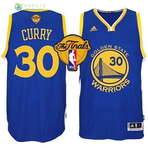 Maglia NBA Golden State Warriors Finale NO.30 Curry Blu