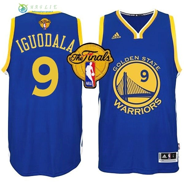 Maglia NBA Golden State Warriors Finale NO.9 Iguodala Blu