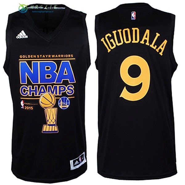 Maglia NBA Golden State Warriors Finale NO.9 Iguodala Nero