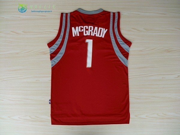 Maglia NBA Houston Rockets NO.1 Tracy McGrady Rosso