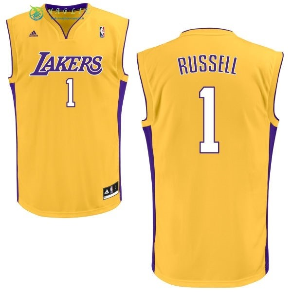 Maglia NBA Los Angeles Lakers NO.1 D'Angelo Russell Giallo