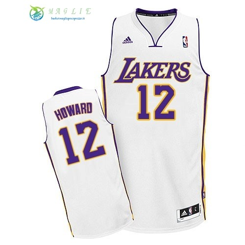 Maglia NBA Los Angeles Lakers NO.12 Dwight Howard Bianco