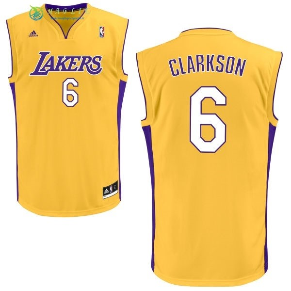 Maglia NBA Los Angeles Lakers NO.6 Jordan Clarkson Giallo