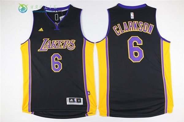 Maglia NBA Los Angeles Lakers NO.6 Jordan Clarkson Nero