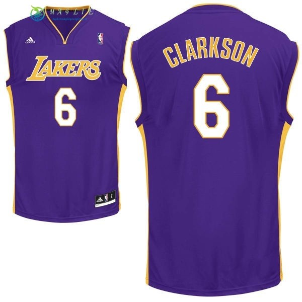 Maglia NBA Los Angeles Lakers NO.6 Jordan Clarkson Porpora