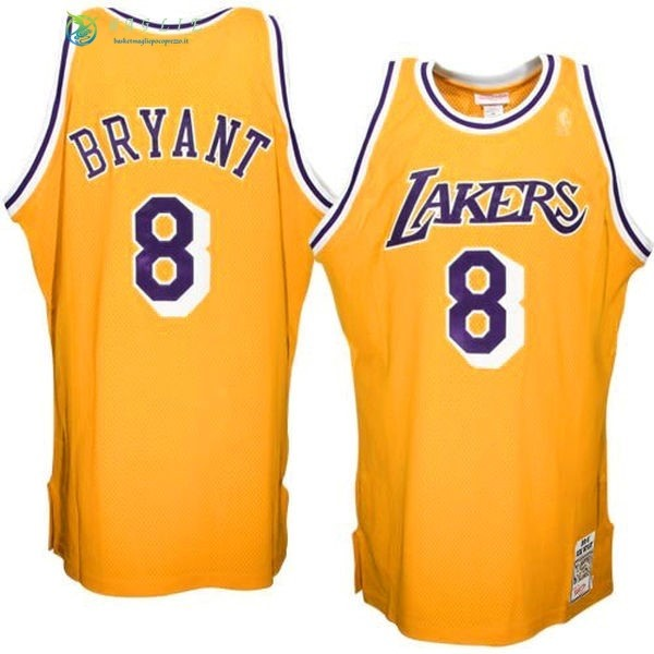 Maglia NBA Los Angeles Lakers NO.8 Kobe Bryant Giallo