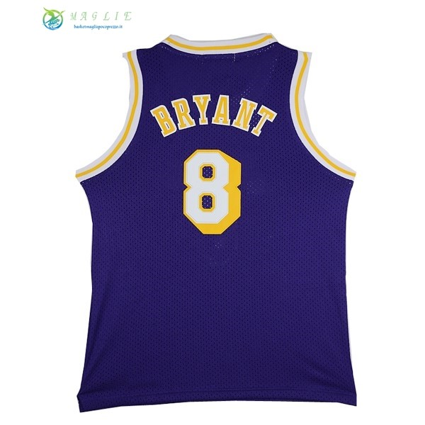Maglia NBA Los Angeles Lakers NO.8 Kobe Bryant Porpora