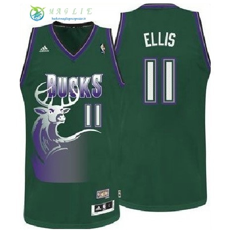 Maglia NBA Milwaukee Bucks NO.11 Monta Ellis Verde