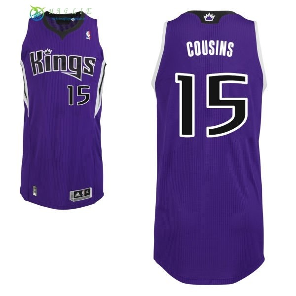 Maglia NBA Sacramento Kings NO.15 DeMarcus Cousins Porpora