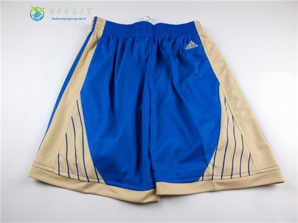 Pantaloni Basket 2015 Natale Golden State Warriors Blu