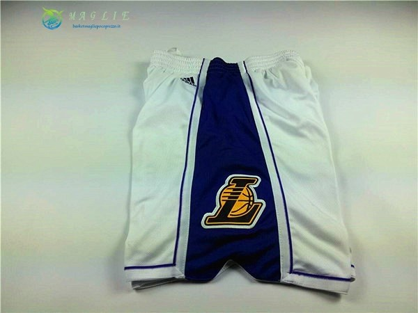 Pantaloni Basket 2015 Natale Los Angeles Lakers Bianco