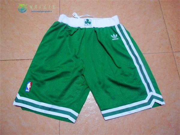 Pantaloni Basket Boston Celtics Retro Verde